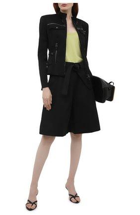 Женская хлопковая куртка TOM FORD черного цвета, арт. CS1144-FAX809 | Фото 2 (Материал внешний: Хлопок; Рукава: Длинные; Стили: Кэжуэл; Материал подклада: Шелк; Длина (верхняя одежда): Короткие)