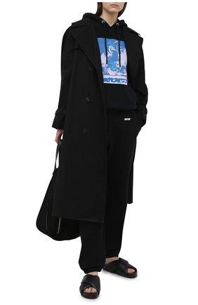 Женские хлопковые джоггеры MSGM черного цвета, арт. 3045MDP02 217299 | Фото 2
