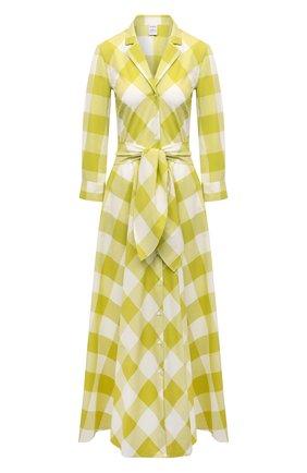 Женское хлопковое платье SARA ROKA желтого цвета, арт. GELSA90/13-S21 | Фото 1
