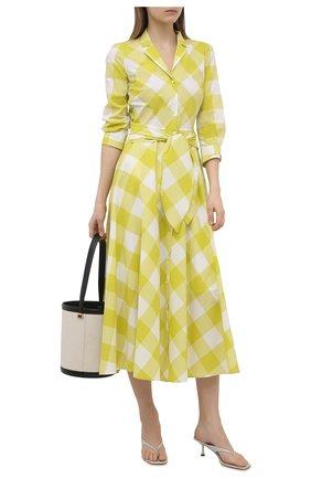 Женское хлопковое платье SARA ROKA желтого цвета, арт. GELSA90/13-S21 | Фото 2