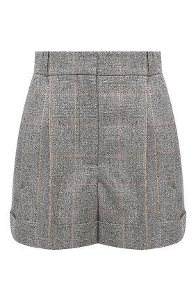 Женские шерстяные шорты ALEXANDER MCQUEEN серого цвета, арт. 649820/QJAB0 | Фото 1