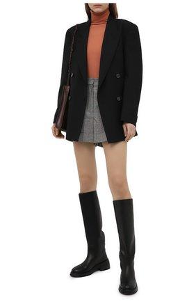 Женские шерстяные шорты ALEXANDER MCQUEEN серого цвета, арт. 649820/QJAB0 | Фото 2