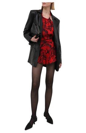 Женский комбинезон из вискозы SAINT LAURENT красного цвета, арт. 642024/Y5C84 | Фото 2