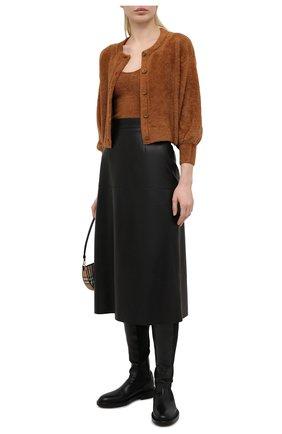 Женский топ ALICE + OLIVIA коричневого цвета, арт. CC102S20720 | Фото 2