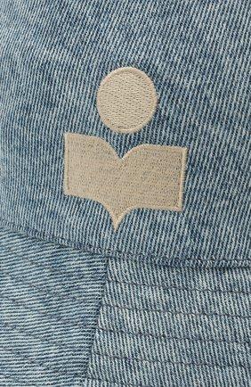 Женская хлопковая панама ISABEL MARANT голубого цвета, арт. CU0026-21E022A/HALEY | Фото 3