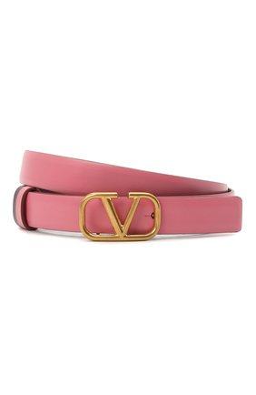 Женский кожаный ремень  VALENTINO розового цвета, арт. VW0T0S12/ZFR | Фото 1 (Кросс-КТ: Тонкие)