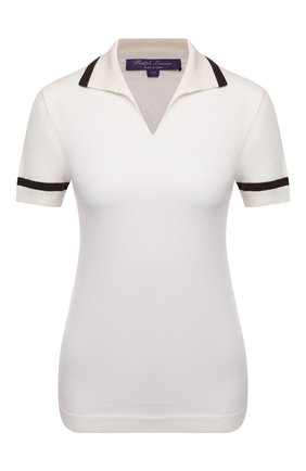 Женское кашемировое поло RALPH LAUREN белого цвета, арт. 290842944   Фото 1