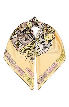 Женский шелковый платок EMILIO PUCCI желтого цвета, арт. 1HGB22/1HP22 | Фото 1