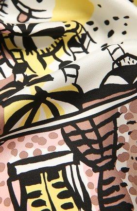 Женский шелковый платок EMILIO PUCCI желтого цвета, арт. 1HGB22/1HP22 | Фото 2