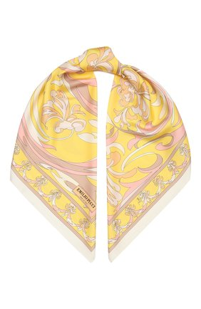 Женский шелковый платок EMILIO PUCCI желтого цвета, арт. 1HGB32/1HT32 | Фото 1