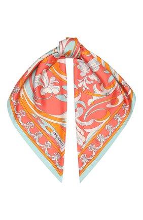 Женский шелковый платок EMILIO PUCCI розового цвета, арт. 1HGB32/1HT32 | Фото 1