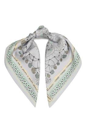Женский шелковый платок EMILIO PUCCI серого цвета, арт. 1HGB41/1HC41 | Фото 1