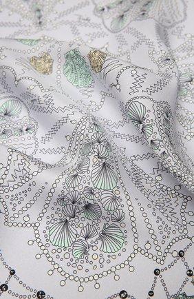 Женский шелковый платок EMILIO PUCCI серого цвета, арт. 1HGB41/1HC41 | Фото 2