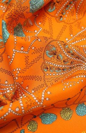 Женский шелковый платок EMILIO PUCCI оранжевого цвета, арт. 1HGB41/1HC41 | Фото 2
