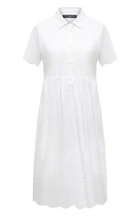 Женское хлопковое платье PIETRO BRUNELLI белого цвета, арт. AG0432/MD/C0P319 | Фото 1