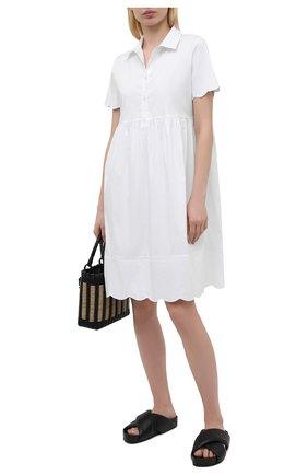 Женское хлопковое платье PIETRO BRUNELLI белого цвета, арт. AG0432/MD/C0P319 | Фото 2