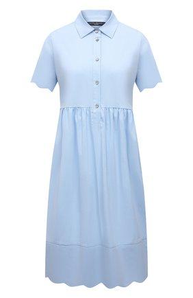 Женское хлопковое платье PIETRO BRUNELLI голубого цвета, арт. AG0432/MD/C0P319 | Фото 1