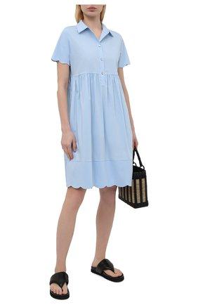 Женское хлопковое платье PIETRO BRUNELLI голубого цвета, арт. AG0432/MD/C0P319 | Фото 2