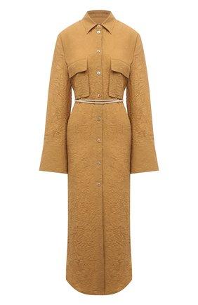 Женское платье из вискозы NANUSHKA коричневого цвета, арт. FRUMA_CAMEL_CRINKLED FSC VISC0SE SHIRTING | Фото 1