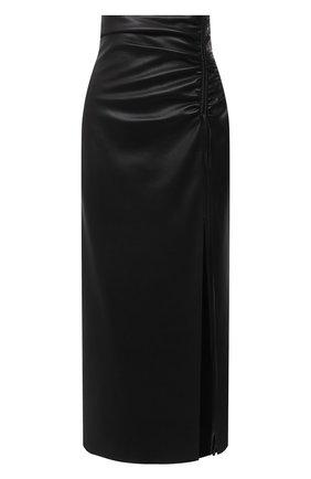 Женская юбка NANUSHKA черного цвета, арт. MAL0RIE_BLACK_VEGAN LEATHER | Фото 1