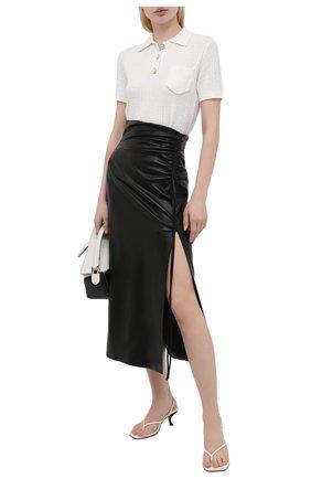 Женская юбка NANUSHKA черного цвета, арт. MAL0RIE_BLACK_VEGAN LEATHER | Фото 2