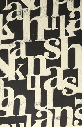 Женский шелковый платок NANUSHKA кремвого цвета, арт. MIANI_CREME BLACK TYP0_SILK   Фото 2