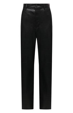 Женские брюки NANUSHKA черного цвета, арт. RADHA_BLACK_VEGAN LEATHER | Фото 1
