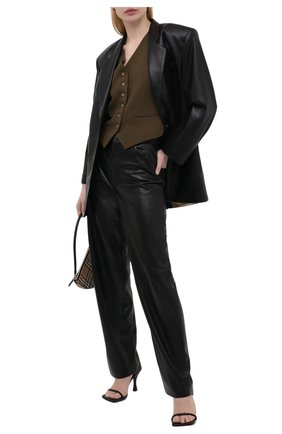 Женские брюки NANUSHKA черного цвета, арт. RADHA_BLACK_VEGAN LEATHER | Фото 2