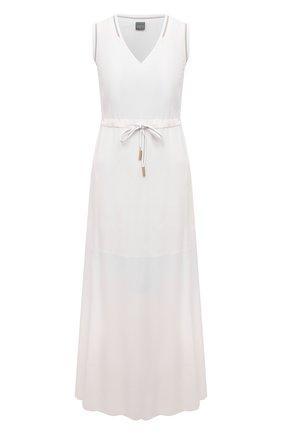 Женское платье из вискозы LORENA ANTONIAZZI белого цвета, арт. E2104AB056/2473 | Фото 1