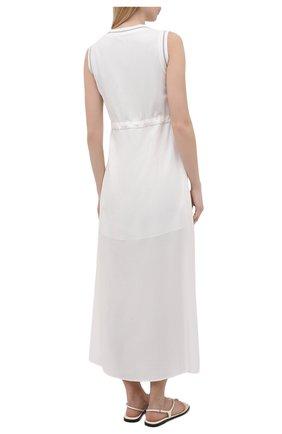 Женское платье из вискозы LORENA ANTONIAZZI белого цвета, арт. E2104AB056/2473   Фото 4