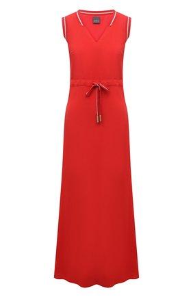 Женское платье из вискозы LORENA ANTONIAZZI красного цвета, арт. E2104AB056/2473 | Фото 1