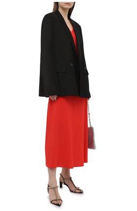 Женское платье из вискозы LORENA ANTONIAZZI красного цвета, арт. E2104AB056/2473 | Фото 2