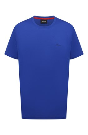 Мужская хлопковая футболка KITON синего цвета, арт. UK1274L | Фото 1