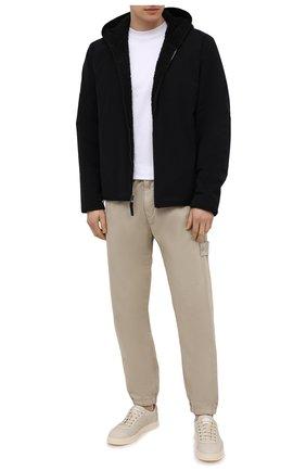 Мужские кожаные кеды CAMERLENGO белого цвета, арт. Z15775CAIGH735 | Фото 2