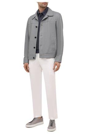 Мужские кожаные кеды ALDO BRUE светло-серого цвета, арт. ABG06L-CM.S.960 | Фото 2
