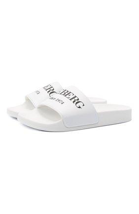 Мужские шлепанцы ICEBERG белого цвета, арт. NIU1302A/C0MB. | Фото 1