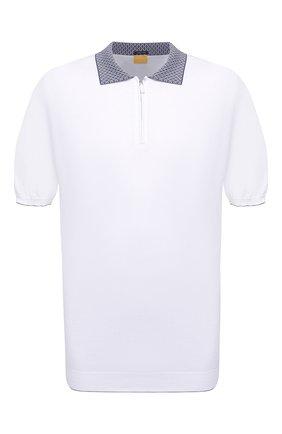Мужское хлопковое поло SVEVO белого цвета, арт. 46314SE21L/MP46 | Фото 1