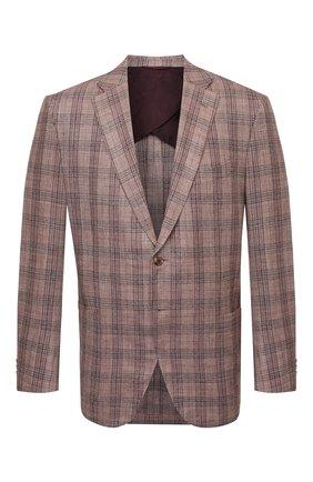 Мужской пиджак LUCIANO BARBERA коричневого цвета, арт. 111T25/16067/58-62 | Фото 1