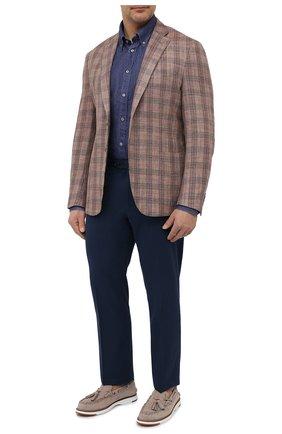 Мужской пиджак LUCIANO BARBERA коричневого цвета, арт. 111T25/16067/58-62 | Фото 2