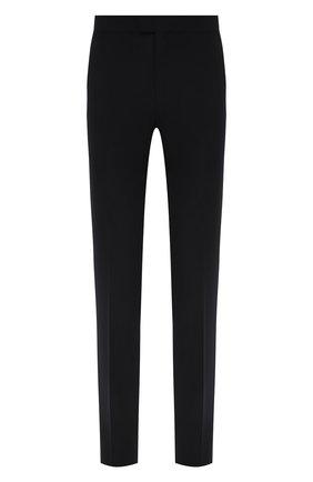 Мужские шерстяные брюки Z ZEGNA черного цвета, арт. 924820/6800GR   Фото 1 (Материал подклада: Синтетический материал; Длина (брюки, джинсы): Стандартные; Материал внешний: Шерсть; Стили: Классический; Случай: Формальный)