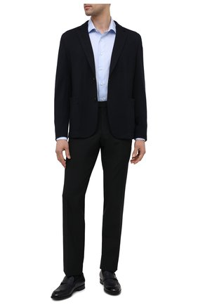 Мужские шерстяные брюки Z ZEGNA черного цвета, арт. 924820/6800GR   Фото 2 (Материал подклада: Синтетический материал; Длина (брюки, джинсы): Стандартные; Материал внешний: Шерсть; Стили: Классический; Случай: Формальный)