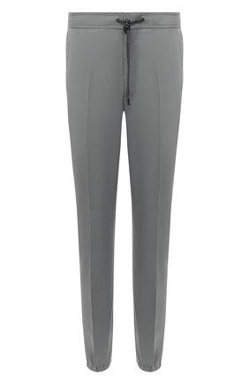 Мужские хлопковые джоггеры Z ZEGNA серого цвета, арт. 9ZF026/73GLC1   Фото 1 (Материал внешний: Хлопок; Длина (брюки, джинсы): Стандартные; Стили: Кэжуэл; Силуэт М (брюки): Джоггеры)