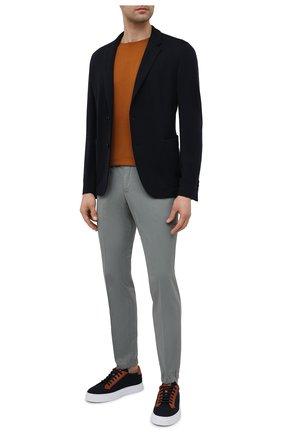 Мужские хлопковые джоггеры Z ZEGNA серого цвета, арт. 9ZF026/73GLC1   Фото 2 (Материал внешний: Хлопок; Длина (брюки, джинсы): Стандартные; Стили: Кэжуэл; Силуэт М (брюки): Джоггеры)