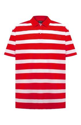 Мужское хлопковое поло PAUL&SHARK красного цвета, арт. 21411222/C00/3XL-6XL | Фото 1
