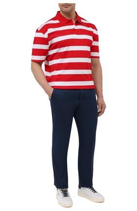 Мужское хлопковое поло PAUL&SHARK красного цвета, арт. 21411222/C00/3XL-6XL | Фото 2