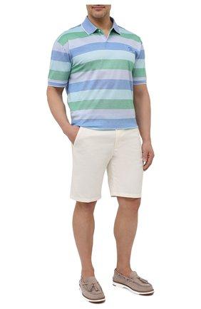 Мужское хлопковое поло PAUL&SHARK разноцветного цвета, арт. 21411318/C00/3XL-6XL   Фото 2