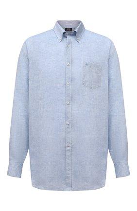 Мужская льняная рубашка PAUL&SHARK голубого цвета, арт. 21413108/F7E | Фото 1