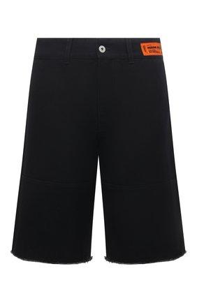 Мужские хлопковые шорты HERON PRESTON черного цвета, арт. HMCB009S21FAB0011001 | Фото 1
