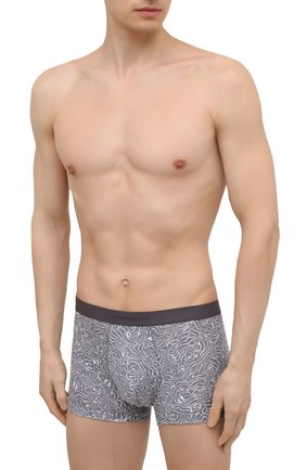 Мужские боксеры ZIMMERLI серого цвета, арт. 5185-8318 | Фото 2 (Материал внешний: Синтетический материал; Кросс-КТ: бельё; Мужское Кросс-КТ: Трусы)
