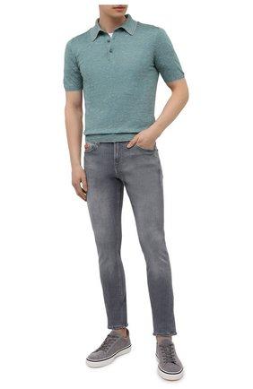 Мужское поло из шелка и льна SVEVO бирюзового цвета, арт. 6407SE21/MP64 | Фото 2